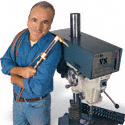 Guy with Drill Press